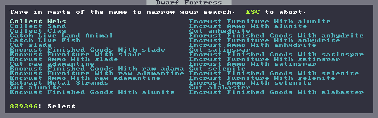 Dwarf Fortress and ivy-mode